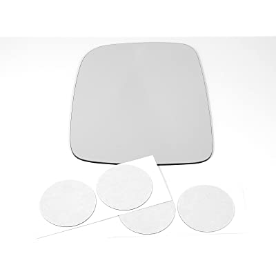 03-06 Jeep Wrangler/TJ, Left Driver, Replacement Mirror Glass Lens with Adhesive, USA