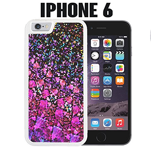 - iPhone Case Stained Glass for iPhone 6 Plastic White (Ships from CA) With Free .33 mm Premium Tempered Glass Screen Protector
