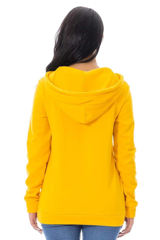 BYSTE/_Felpa con Cappuccio Pullover Lungo Donna Sweatshirt Maniche Lunghe Vestito Felpe Tumblr Ragazza Invernali Casual Hoodies Maglietta Jumper Tops