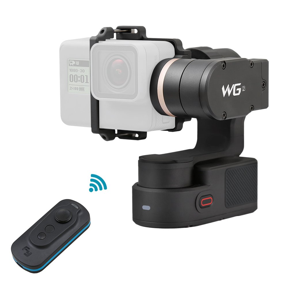 FeiyuTech WG2 3 Axis Wearable Gimbal Waterproof Support APP Wireless Remote Control with Smart Gimbal Remote Controller for GoPro Hero5 Hero4 Session and Other Action Cameras with Similar Dimensions by FeiyuTech