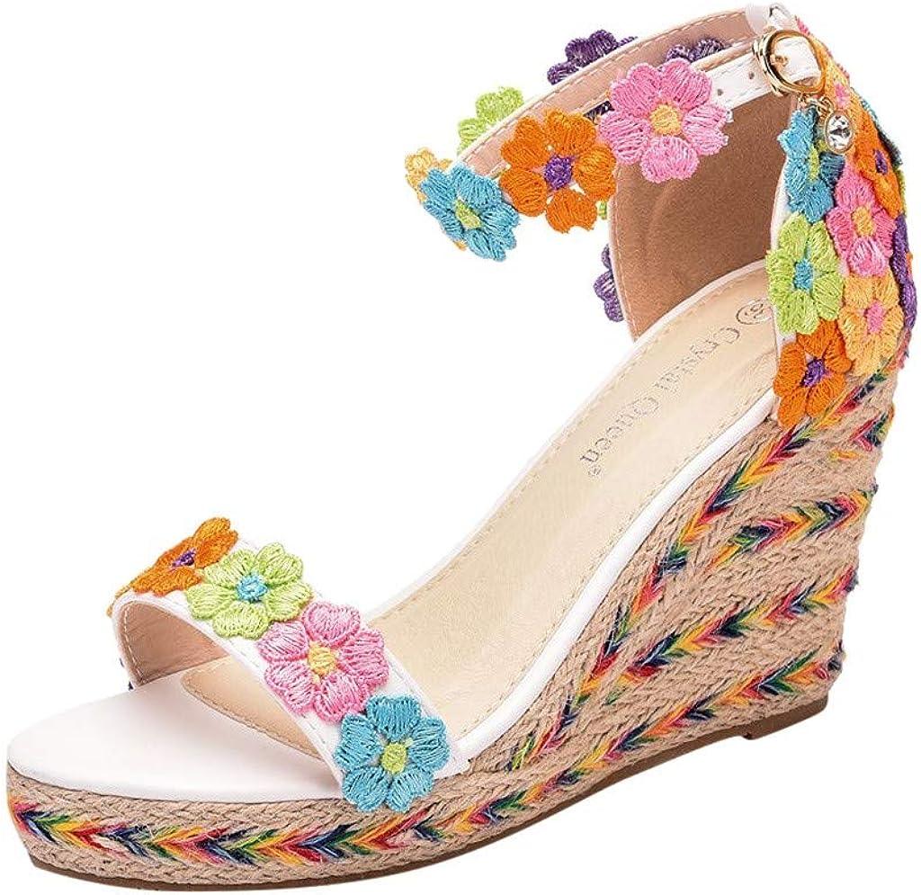 Luckycat Sandalias Mujer Zapatos Tacon Mujer Cuña Zapatillas de Cuña para Mujeres Zapatillas Casuales Altas Primavera Verano Sandalias Tacón Cuña Zapatos Fiesta Boda: Amazon.es: Zapatos y complementos