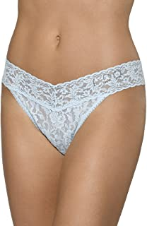 "product image for Hanky Panky ""I DO"" Original Rise Bridal White/Blue Thong"