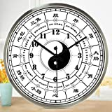 Znzbzt Simple Creative Mute Wall Clock Traditional Chinese Foot spa and Massage parlors in The Hospital Ward 医 feng Shui Decorative Wall Clock Mute Watches, 16 inch, Radi