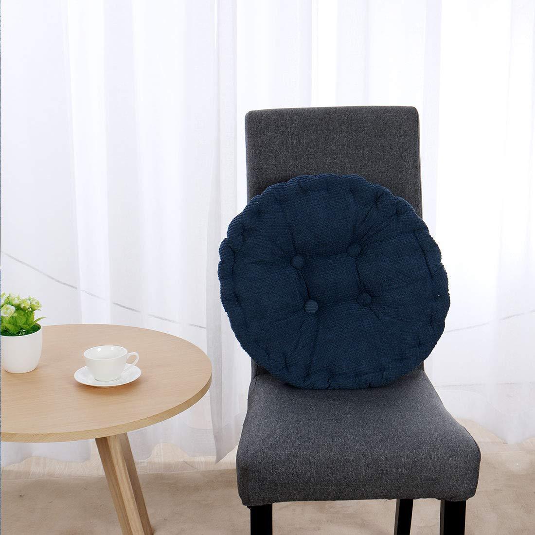 forma rotonda addensato sedia Sedile Cuscino Coperchio Tampone blu navy sourcingmap/® Famiglia velluti coste