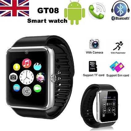 HowiseAcc GT08 Bluetooth Smart reloj/reloj de pulsera teléfono con ...