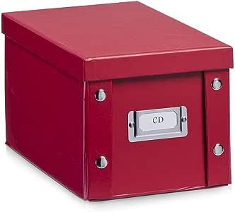 Zeller 17937 Caja de almacenaje de cartón Rojo (Rot) 16.5 x 28 x 15 cm: Amazon.es: Hogar