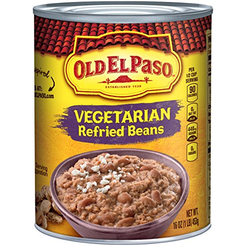 Old El Paso Vegetarian Refried Beans 16 oz Can (pack of 12)