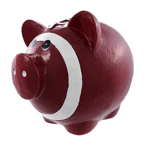 Diseño con texto en inglés de balón de fútbol Pig Hucha en forma ...