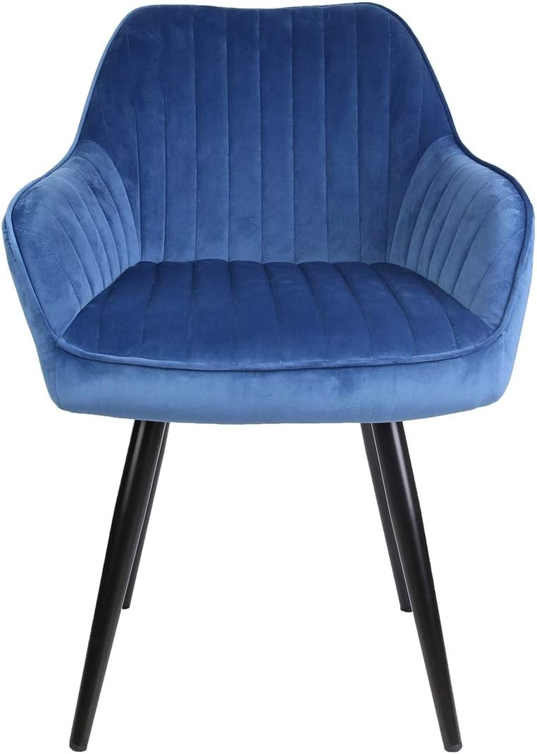 HTI-Line Stuhl Albany Esszimmerstuhl Polsterstuhl Sitzm/öbel Blau