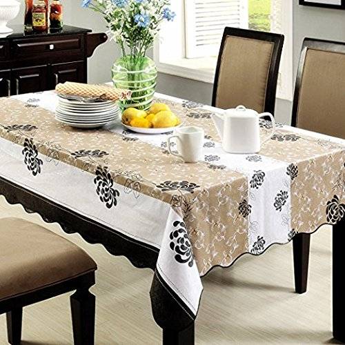 Jinsen Multi-Purpose PVC Rectangular Tablecloth Square Table Cloth Cover Tea Table Cloth 152x152 cm (60x60 inch) Square Rectangular Dining Tables