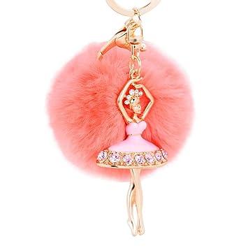 Colorido elegante cute peluche llavero, Y56 bailarina Fox de ...
