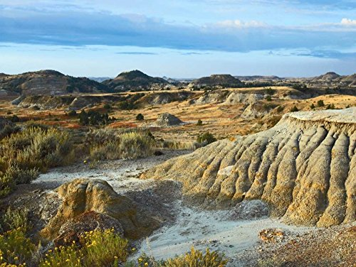 Posterazzi Poster Print Collection Badlands South Unit Theodore Roosevelt National Park North Dakota Tim Fitzharris, (9 x 12), Multicolored