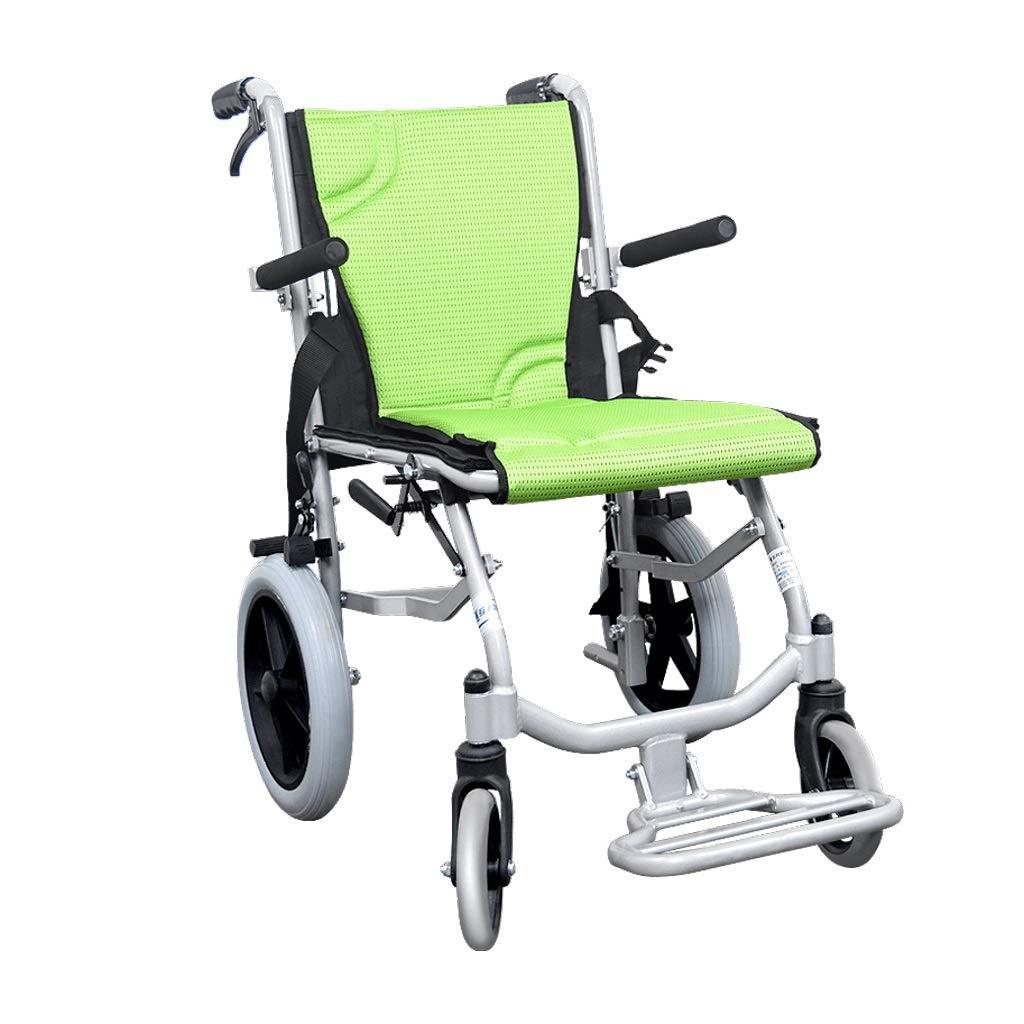人気新品 手動車椅子 - - 折りたたみ式旅行車椅子高齢者障害者用トロリー 手動車椅子 (色 : 緑) 緑 : B07P37XKK1, 創作和洋菓子 花えちぜん:5ed57a57 --- a0267596.xsph.ru