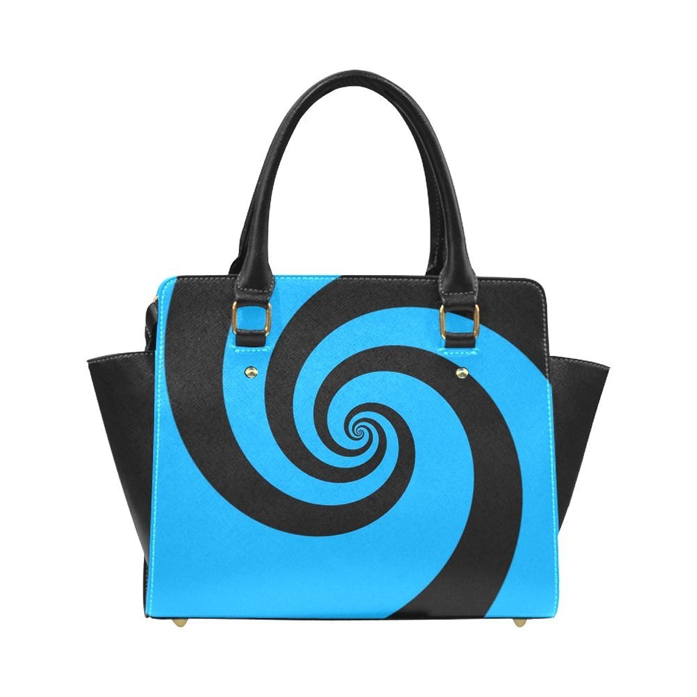 Interestprint Custom BLACK and BLUE SWIRL Classic Women Top Handbag Shoulder Bag