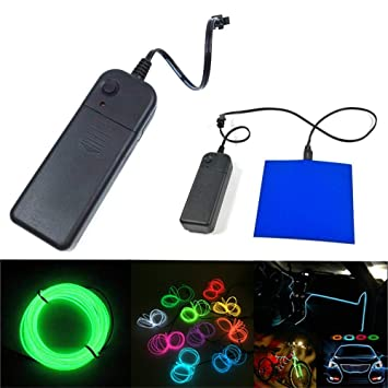Neon Glowing Wires El Wire Controller Inverter Adapter Battery Pack Controller Light Led Neon Lights Shoes Clothing Car Decor Fragrant Aroma Consumer Electronics Power Source