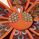 Techinal 1 Pcs Windmills Decorative, Double Layer Peacock Sequins Windmill Colorful Wind Spinner Kids Toy Home Garden Decor ( Orange )