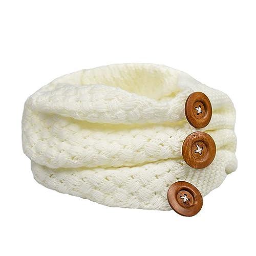 bufanda mujer invierno suave tejer círculo lazo bufanda con sujetador por Kfnire