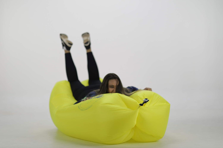 Amazon.com: VCSTio Tumbona hinchable soplando aire sofá ...