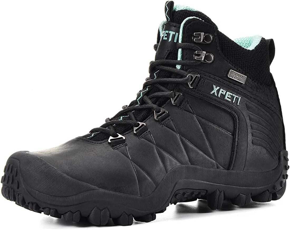 XPETI Women s Quest Mid Waterproof Leather Hiking Boot