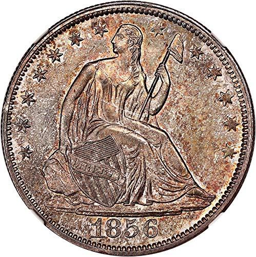 1856 P Liberty Seated Half Dollars Half Dollar MS65 PCGS\CAC ()