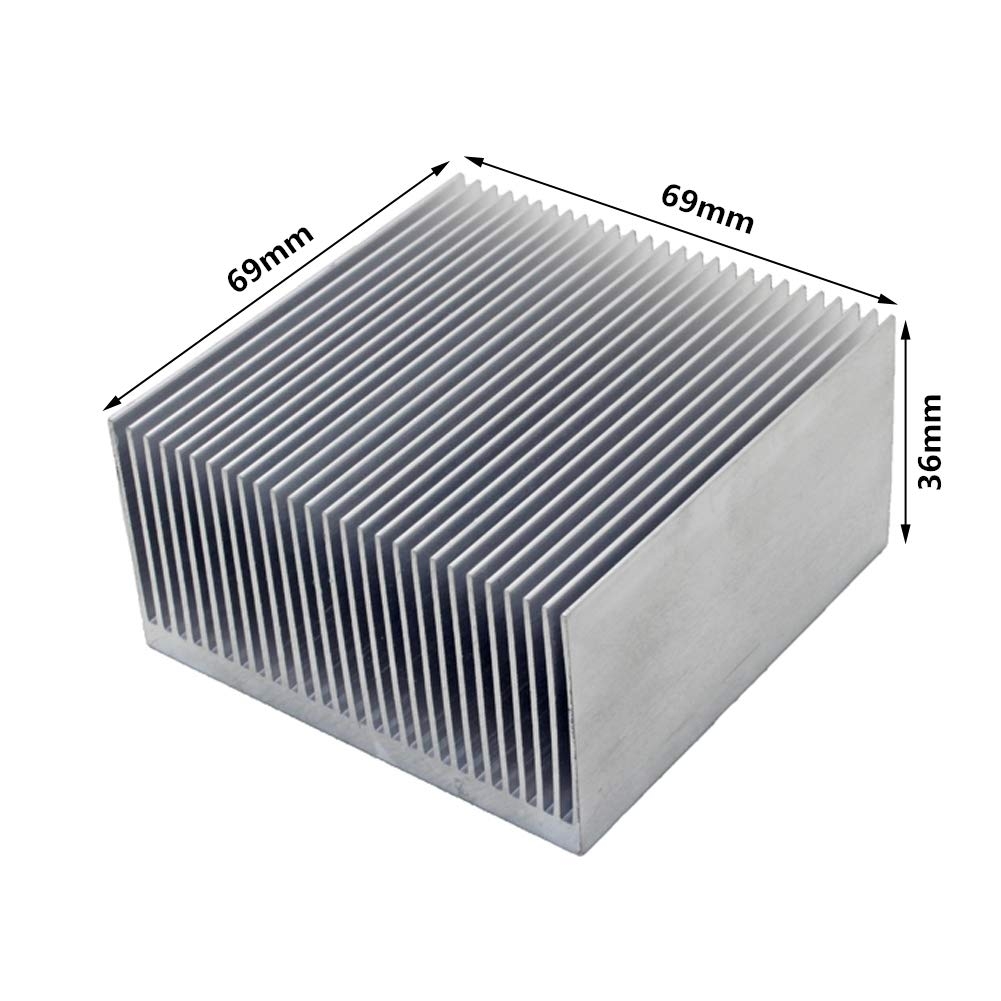 Aluminum heatsink 69x69x36mm 2.72x2.72x1.42 inches for Electronic Chip LED Cooling