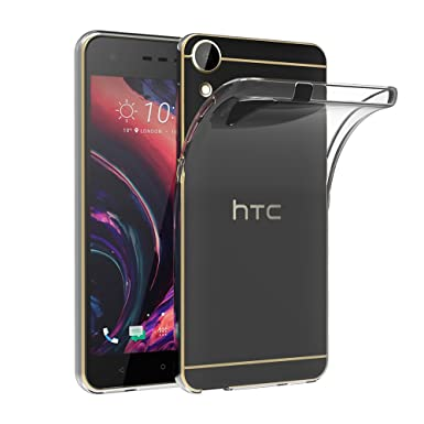 official photos 802f0 faeac HTC Desire 10 Lifestyle Case, AICEK HTC Desire 10 Lifestyle Silicon Soft  TPU Case Crystal Clear Premium Anti Slip Scratch Resistant Case Cover for  HTC ...