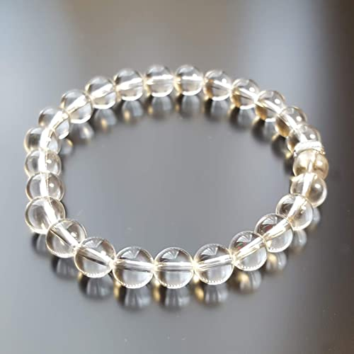 Handmade bracelet Natural Stone Bracelet Onyx and Transparent Quartz Personalized jewelry.