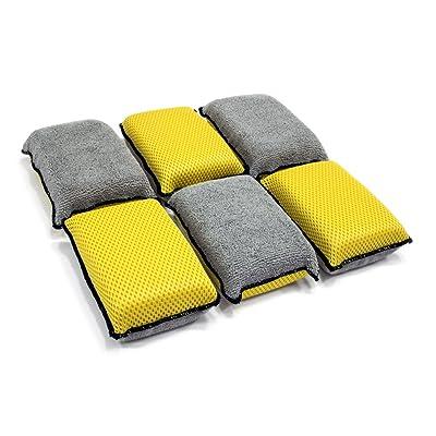 Autofiber Upholstery and Leather Microfiber Scrubbing Sponge (6 Pack): Automotive