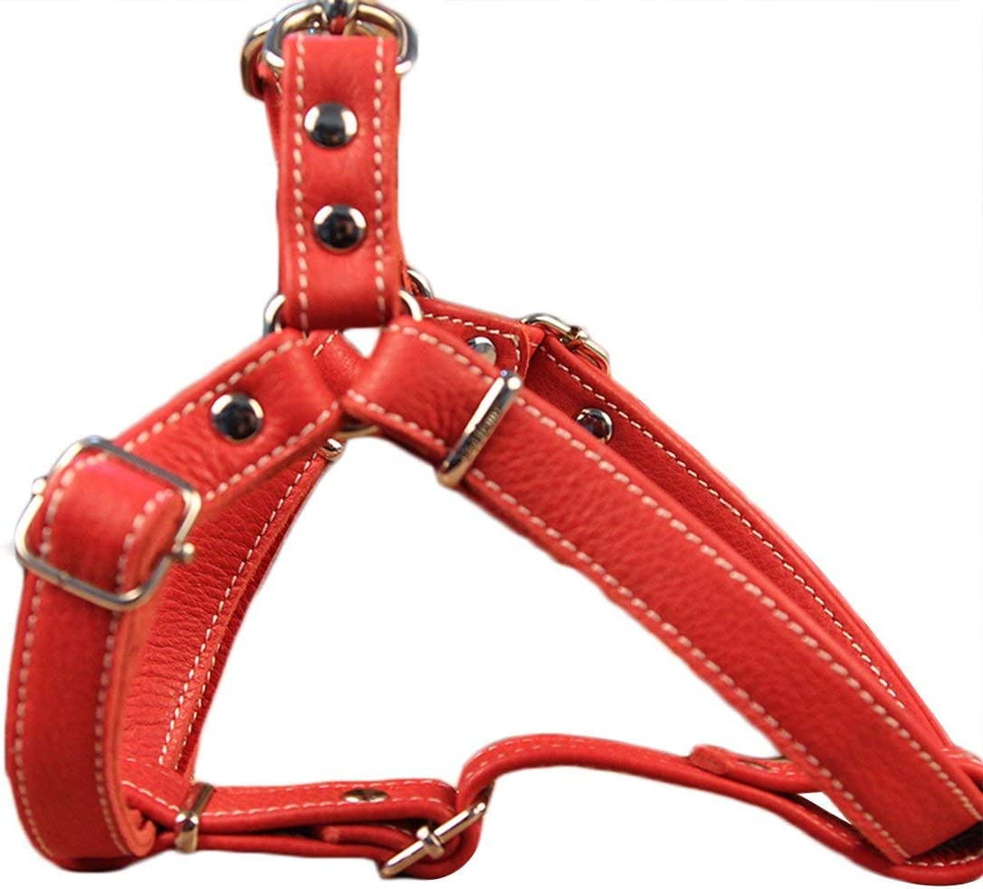 weich f/ür kleine HEI SHOP Hundegeschirr aus weichem Leder mit Anti-Ziehschutz und verstellbarem Brustgeschirr aus norwegischem Leder mittelgro/ße und gro/ße Hunde