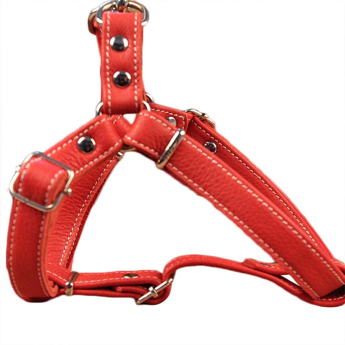 HEI SHOP Dog Harness Anti Pull in Morbida Pelle Gilet Imbracatura Imbracatura Regolabile Norvegese Escape Prova Pet Imbracatura in Pelle Morbida per Cani Taglia Piccola e Media