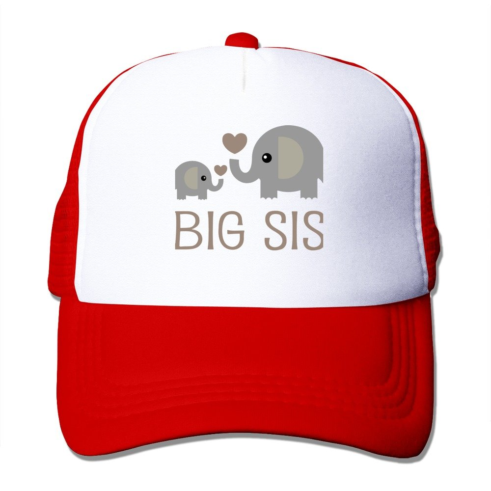 NVJUI JUFOPL Girls Elephant Big Sister Mesh Trucker Baseball Cap Hat 4-13 Years Old