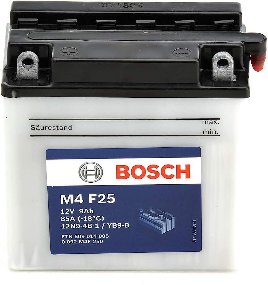 12V Plomo 3A//h-10A Bosch M4F15 Bater/ía motocicleta YB3L-A