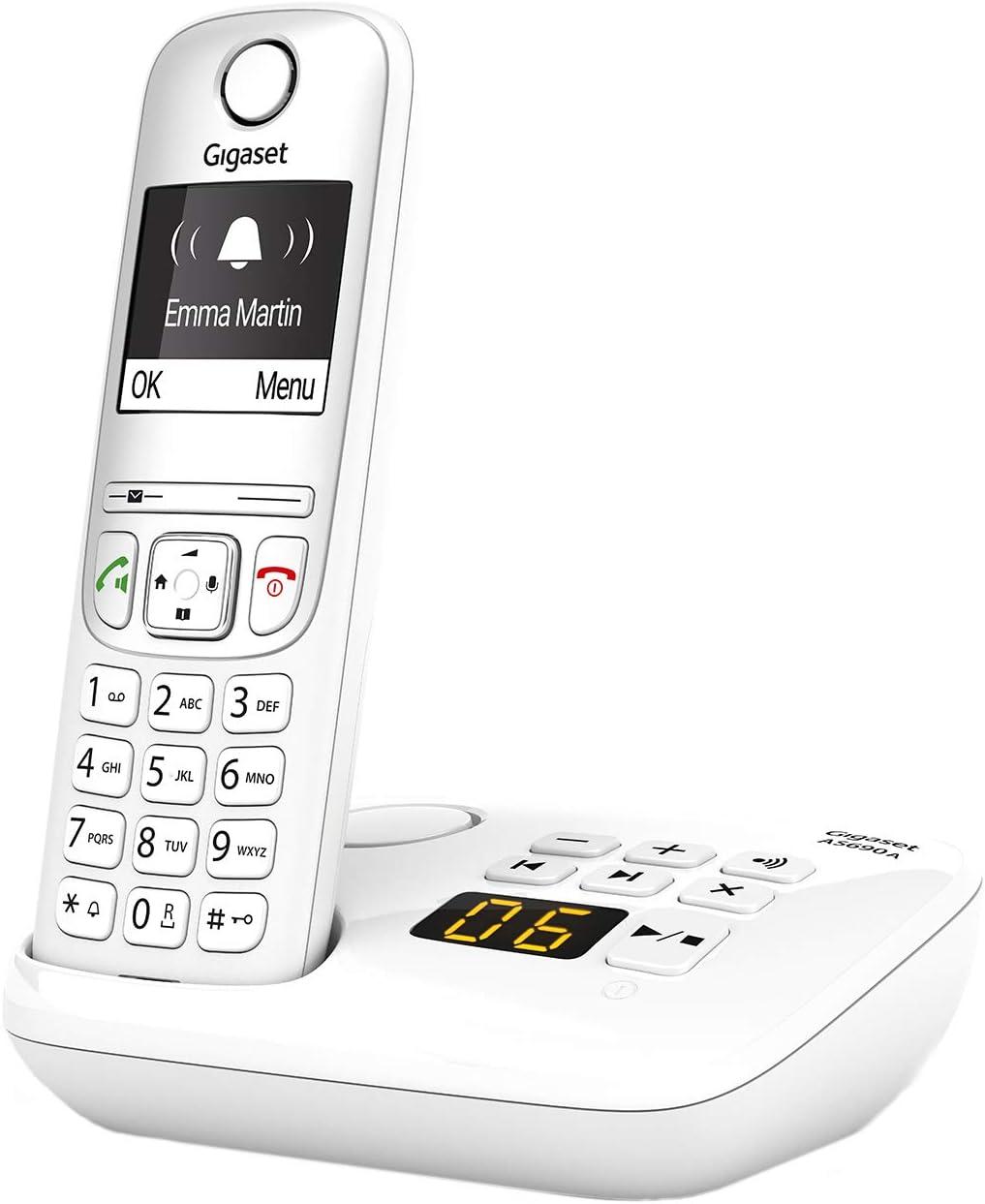 Gigaset As690a Schnurloses Telefon Mit Anrufbeantworter Großes Kontrastreiches Display Brillante Audioqualität Einstellbare Klangprofile Freisprechfunktion