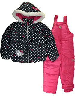 d1e1a8512 Amazon.com  Hello Kitty Girl s HK031 Puffer Hooded Grey Winter ...