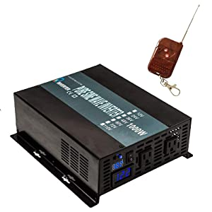 WZRELB RBP100012VCRT 1000W 12V 120V Pure Sine Wave Solar Power Inverter with Remote Control Switch