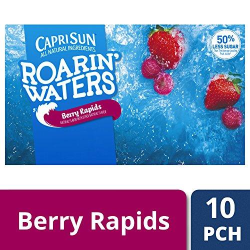 Capri Sun Roarin' Waters Flavored Water Beverage, Berry, 10 ()