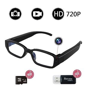 Vidrios de la cámara espía, Bysameyee HD 720P vidrios ocultados del Registrador de vídeo,