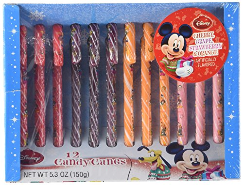 Price comparison product image Disney Mickey Mouse Holiday Magic Candy Canes, 2 Boxes of 12 Candy Canes (24 ...
