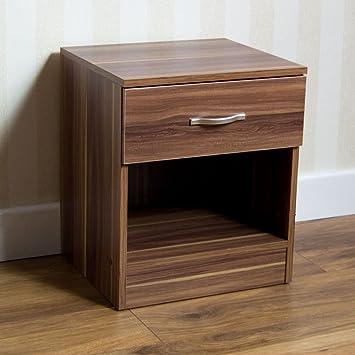 1dc38f8742f3 Home Discount Walnut Bedside Drawer
