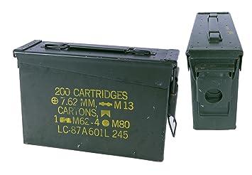 US Army Munitionskiste Größe 7 Metallbox Metallkiste Geocache Behälter Munikiste