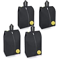 Travel Shoes Bags 4 Pieces Pack - Cheaper Best - Waterproof Durable Versatile Organizers Sleeves Tough Zipper with Fluorescent Mesh Reinforced See-Through Window