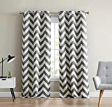 Best Curtain Panel For Kids Bedrooms - HLC.ME Chevron Print Thermal Insulated Room Darkening Blackout Review