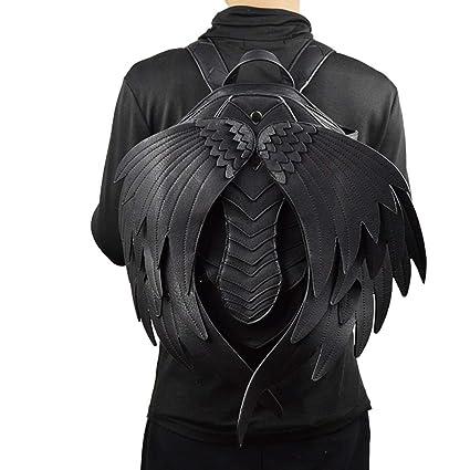 Mochilas negras retro de los hombres de Steampunk Mochilas góticas de la moda de la PU
