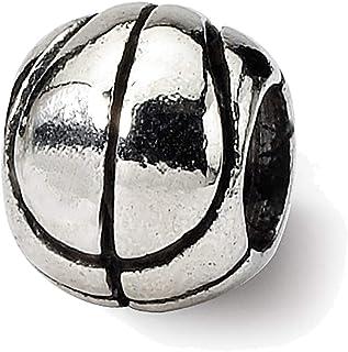 Lex & Lu Sterling Silver Reflections Kids Basketball Bead