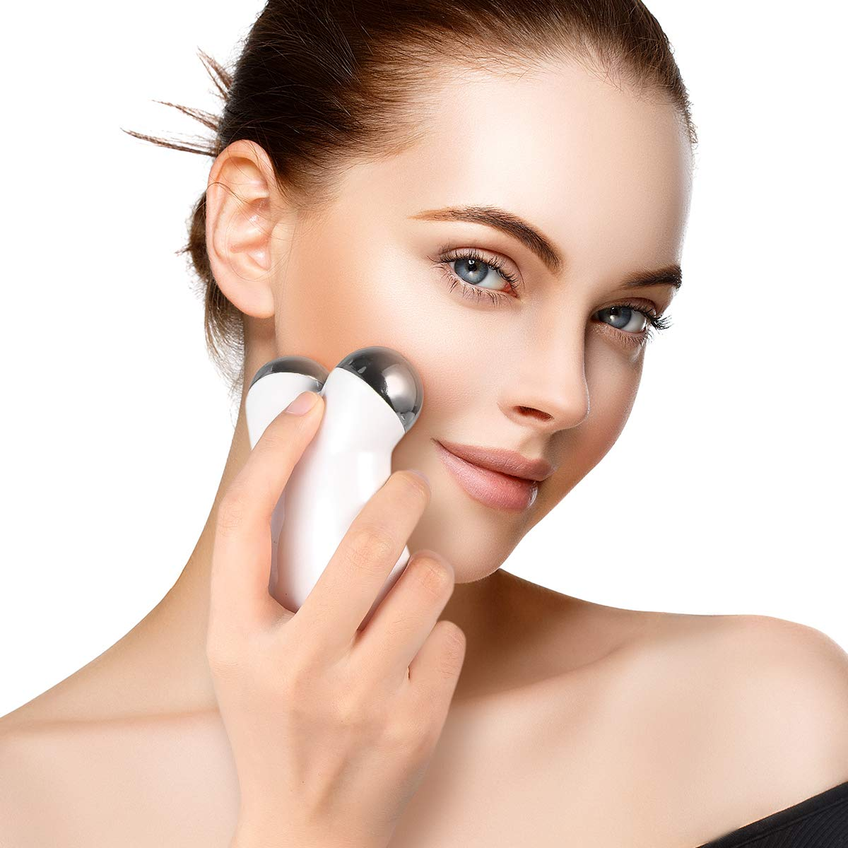 Frcolor Mini Face Massager Microcurrent Facial Toning Device for Reducing Wrinkles and Firming Skin (White): Beauty