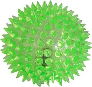 PRECORN LED Pelota para los Perros Mascotas Bola Anti estr/és Bola con Efecto de luz LED en Purpura