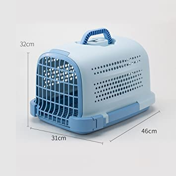 YQQ Pet Box Flight Case Jaulas para Gatos Salida Portátil Caja De Envío De Perro Caja ...