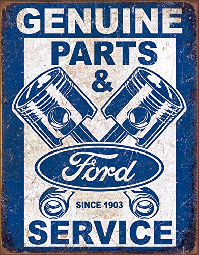 Lincoln Electric Ford Service - Pistons Tin Sign 13 x 16in