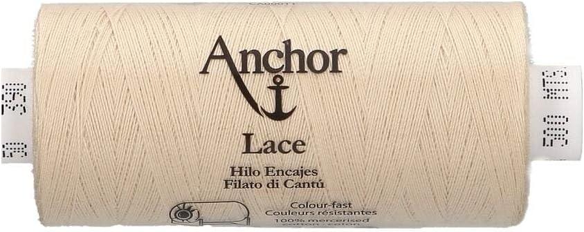 132 3cm x 3cm x 7cm Anchor Lace 50 100 /% algod/ón 500 m Hilo para hacer encaje de bolillos