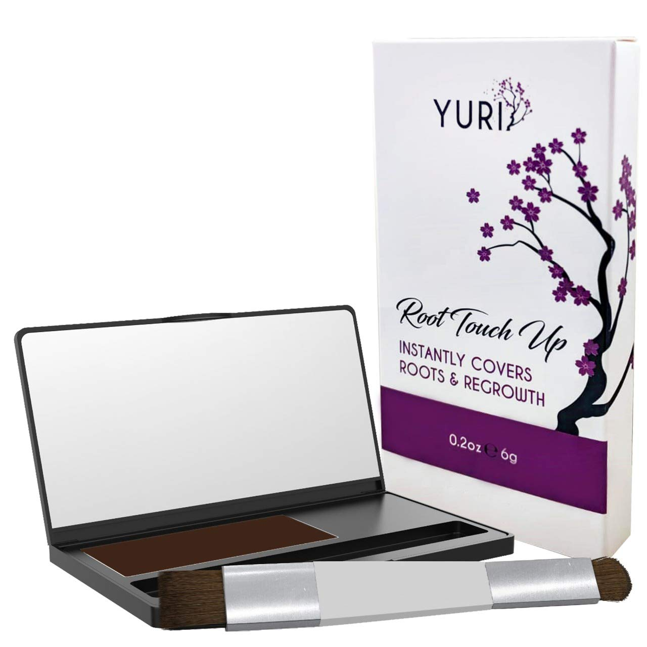 Premium Root Touch Up - Temporary Instant Root Concealer for Extending Time Between Coloring - Cover Up Grays and Roots with Color and no Spray - Lasts Until You Shampoo by Yuri
